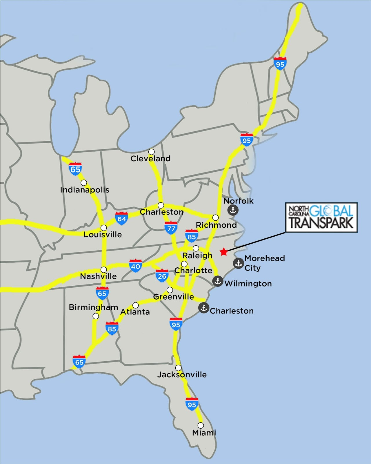 North Carolina Global TransPark: Maps
